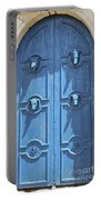 Blue Door Decorated With Wooden Animal Heads Portable Battery Charger