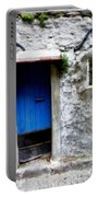 Blue Door  On Rustic House Portable Battery Charger
