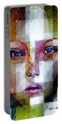 Blue Eyes Girl Portable Battery Charger