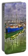 Blue Fishing Boat Hdr Portable Battery Charger