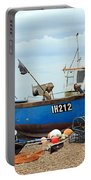 Blue Fishing Boat Portable Battery Charger