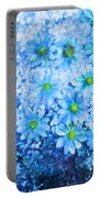 Blue Floral Fantasy Portable Battery Charger