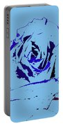 Blue Flower Portable Battery Charger