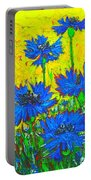 Blue Flowers - Wild Cornflowers In Sunlight  Portable Battery Charger