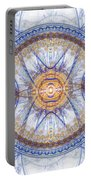 Blue Fractal Inception  Portable Battery Charger