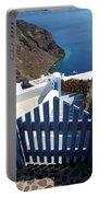 Blue Gate Oia Santorini Greek Islands Portable Battery Charger