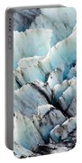 Blue Glacier Ice Background Texture Pattern Portable Battery Charger