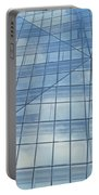Blue Glass Chicago Facade Portable Battery Charger