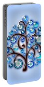 Blue Glass Ornaments Portable Battery Charger