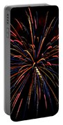 Blue Gold Pink And More - Fireworks And Moon Portable Battery Charger