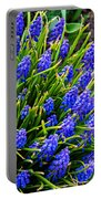Blue Grape Hyacinth Portable Battery Charger