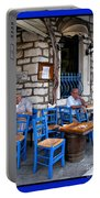 Blue Greek Taverna Portable Battery Charger