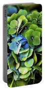 Blue Green Hydrangea Portable Battery Charger
