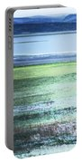 Blue Green Landscape Portable Battery Charger
