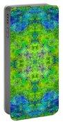 Blue Green Mandala Portable Battery Charger