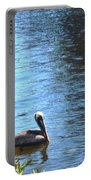 Blue Heron And Pelicans Portable Battery Charger