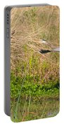 Blue Heron And The Black Bird Portable Battery Charger