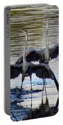 Great Blue Heron Ballet Portable Battery Charger