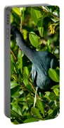 Blue Heron In Mangroves Portable Battery Charger