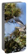 Blue Heron In The Trees Oil Portable Battery Charger