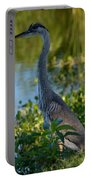 Blue Heron In The White Light Portable Battery Charger