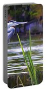 Blue Heron On The Bay Portable Battery Charger