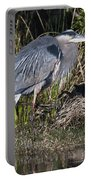 Blue Heron On The Hunt Portable Battery Charger