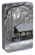 Blue Heron Park In Winter Portable Battery Charger