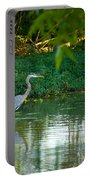 Blue Heron Reflection Portable Battery Charger