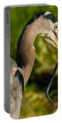 Blue Heron With A Snake In Its Bill Portable Battery Charger