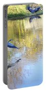 Blue Herons On Golden Pond Portable Battery Charger