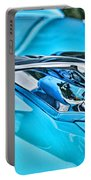 Blue Hood Ornament-hdr Portable Battery Charger