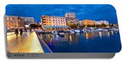 Blue Hour Zadar Waterfront View Portable Battery Charger
