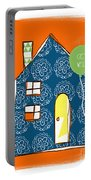 Blue House Get Well Card Portable Battery Charger