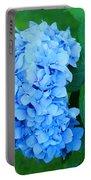 Blue Hydrangea Flower Art Prints Nature Floral Portable Battery Charger