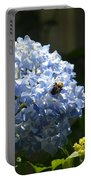 Blue Hydrangea With Bumblebee Portable Battery Charger