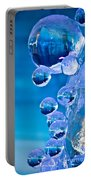 Blue Ice Bubbles Portable Battery Charger