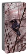 Blue Jay In The Willow Portable Battery Charger