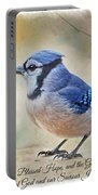 Blue Jay With Verse Portable Battery Charger