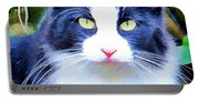 Blue Kitty Portable Battery Charger