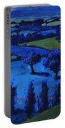 Blue Landscape Portable Battery Charger