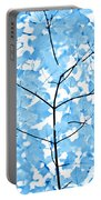 Blue Leaves Melody Portable Battery Charger by Jennie Marie Schell