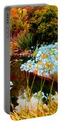 Blue Lily Water Garden Portable Battery Charger