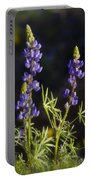 Blue Lupine  Portable Battery Charger
