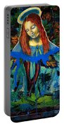 Blue Madonna In Tree Portable Battery Charger