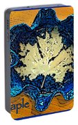 Blue Maple Leaf Dish 2 Portable Battery Charger