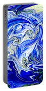 Blue Mophead Hydrangea Abstract Portable Battery Charger