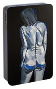 Blue Nude Self Portrait Portable Battery Charger