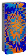 Blue Orange Abstract Portable Battery Charger