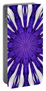 Blue Orchid Sunburst Kaleidoscope Portable Battery Charger